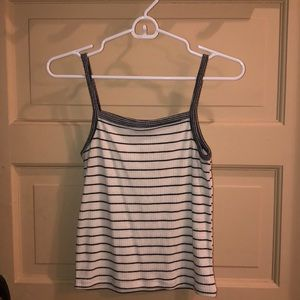 White and black striped tank top